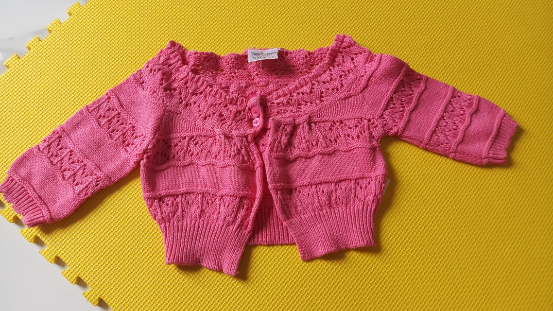 Pink cardigan for baby
