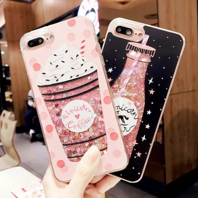 online retailer c4701 dfc41 PO: 📱Glitter Unicorn Coffee Unicorn Water Phone Case