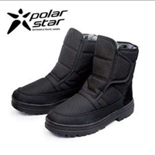 polarstar男防潑水冰爪雪靴