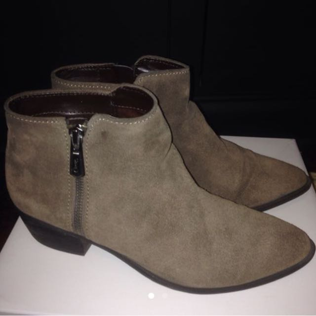 Price dropped suede Sam Edelman booties