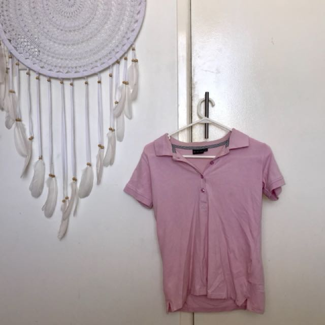 Pull Love Pink Polo Shirt Size M