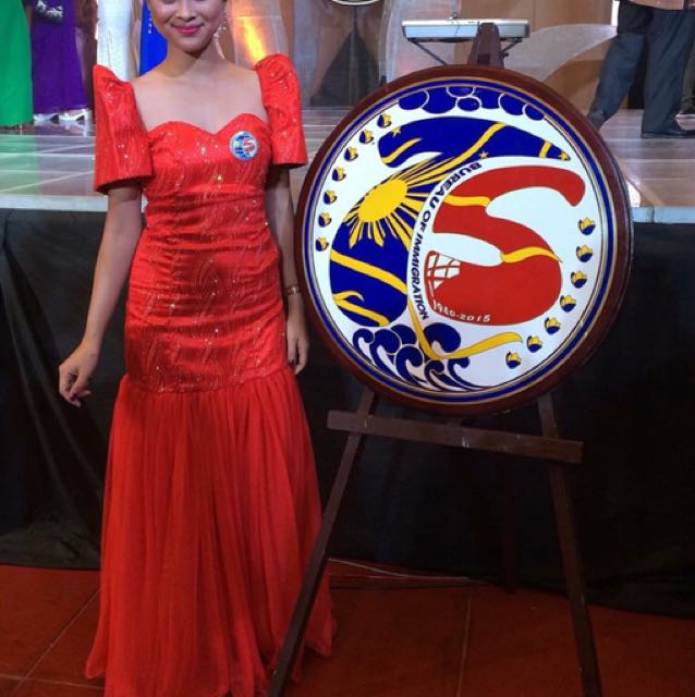 Red Filipiniana Gown