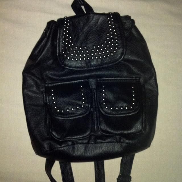 REPRICED! Studded Leather Backpack