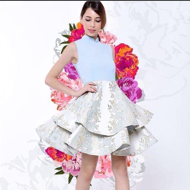 Room8008 modern Cheongsam with flare skirt #midjan55