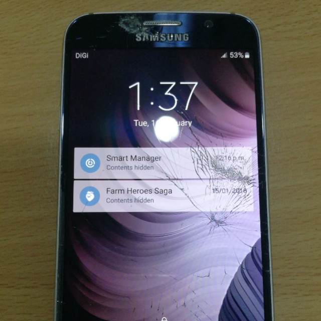 Samsung s6 glass crack repair