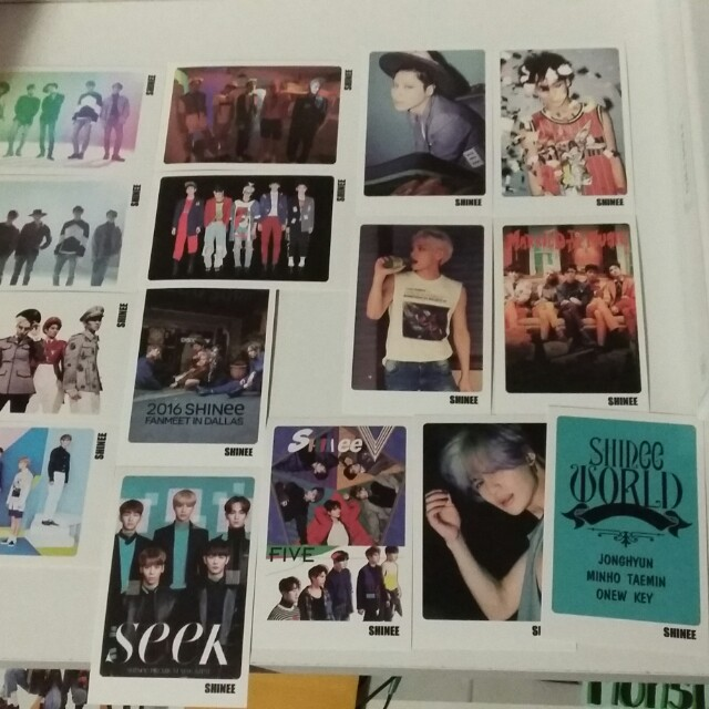 SHINee Photocards kpop unofficial