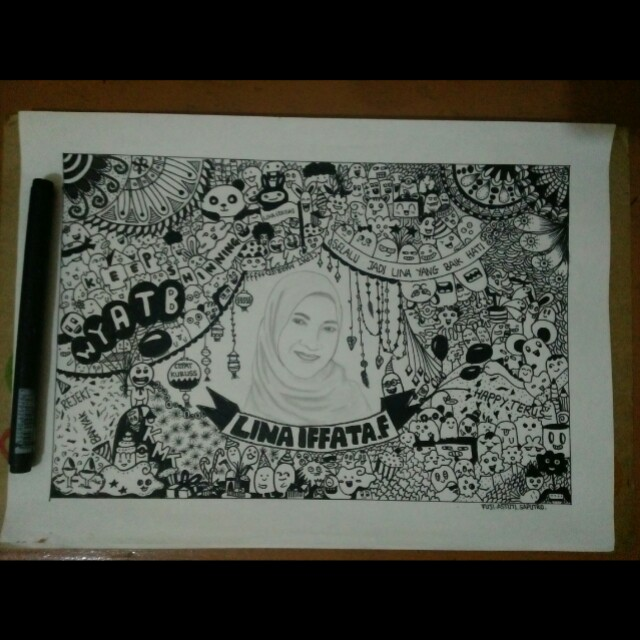 Sketsa dan doodle + Bingkai