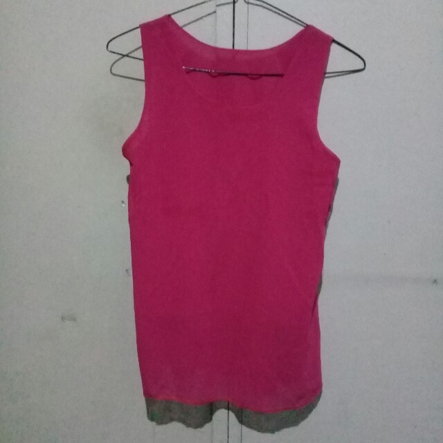 Sleeveless Pink Top