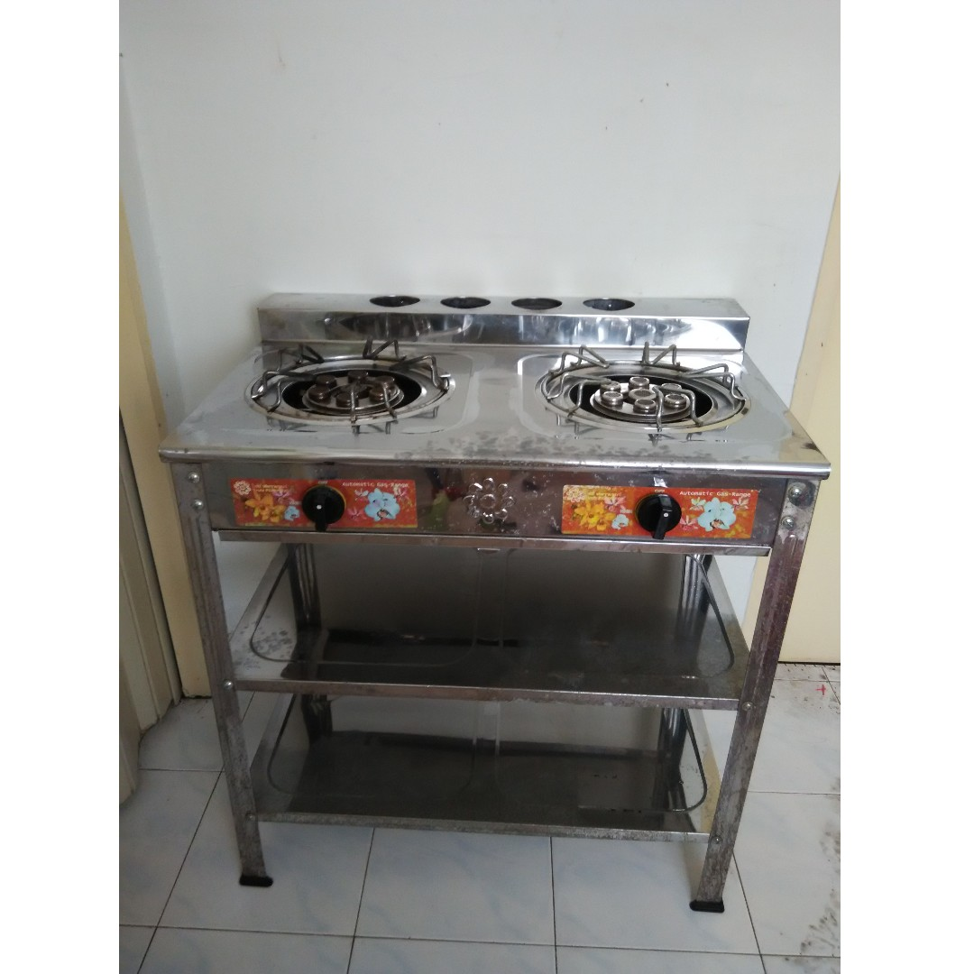 Stainless Steel Double Gas Stove Rm 480 00 Kitchen Liances On Carou