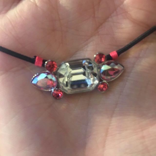 Swarovski pink necklace