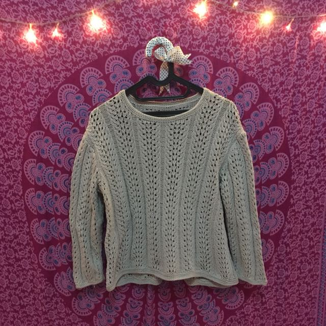 sweater rajut softpink