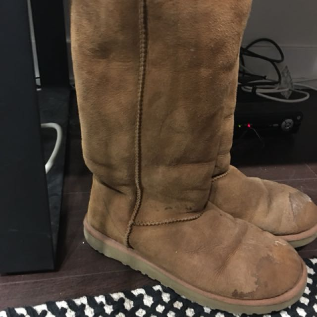 Tall Camel Uggs size 8.5