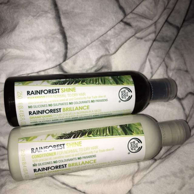 The Body Shop shampoo and conditioner