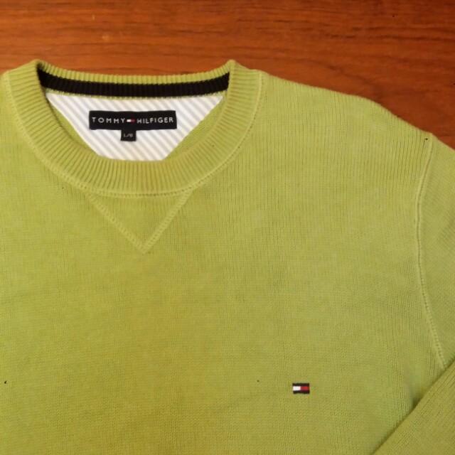 Tommy 青綠色針織衛衣