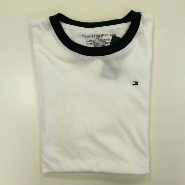 ba6c72f6 Tommy Hilfiger Boys' Core Crew-Neck Ken T-Shirt - White, Men's Fashion,  Clothes on Carousell