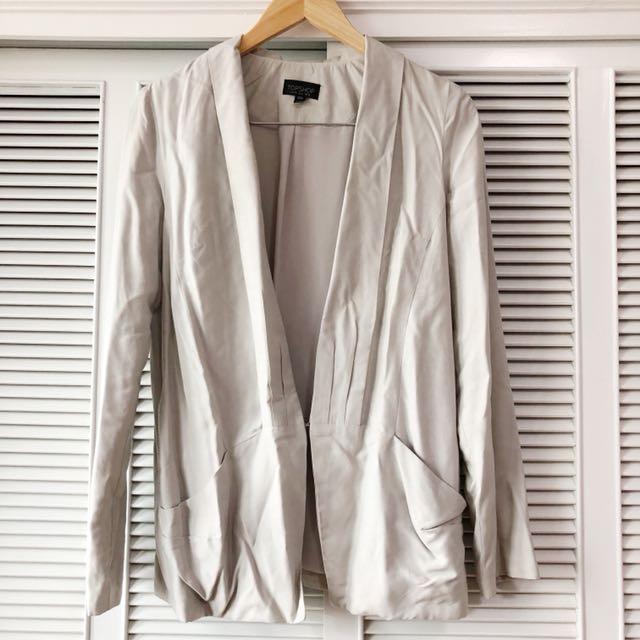 Topshop Grey Blazer