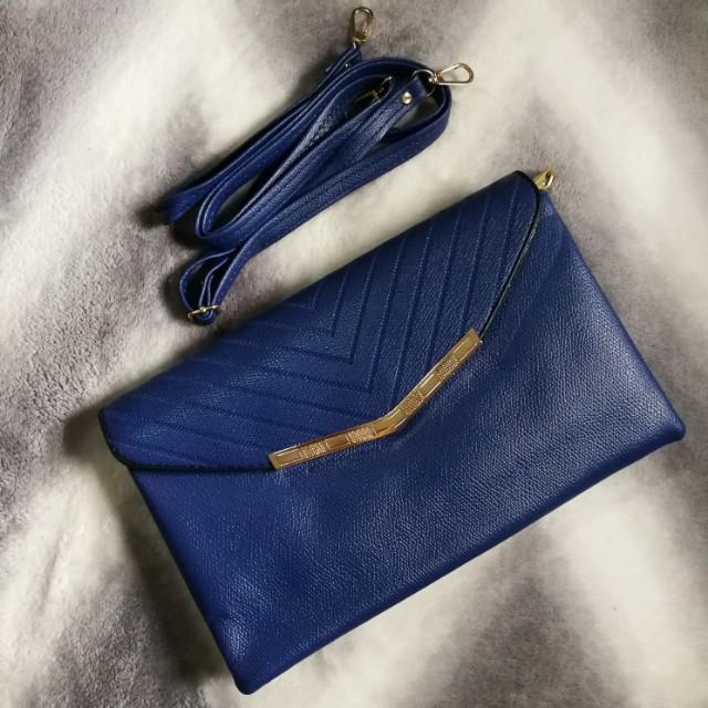 Trendy 2in1 sling/clutch bag
