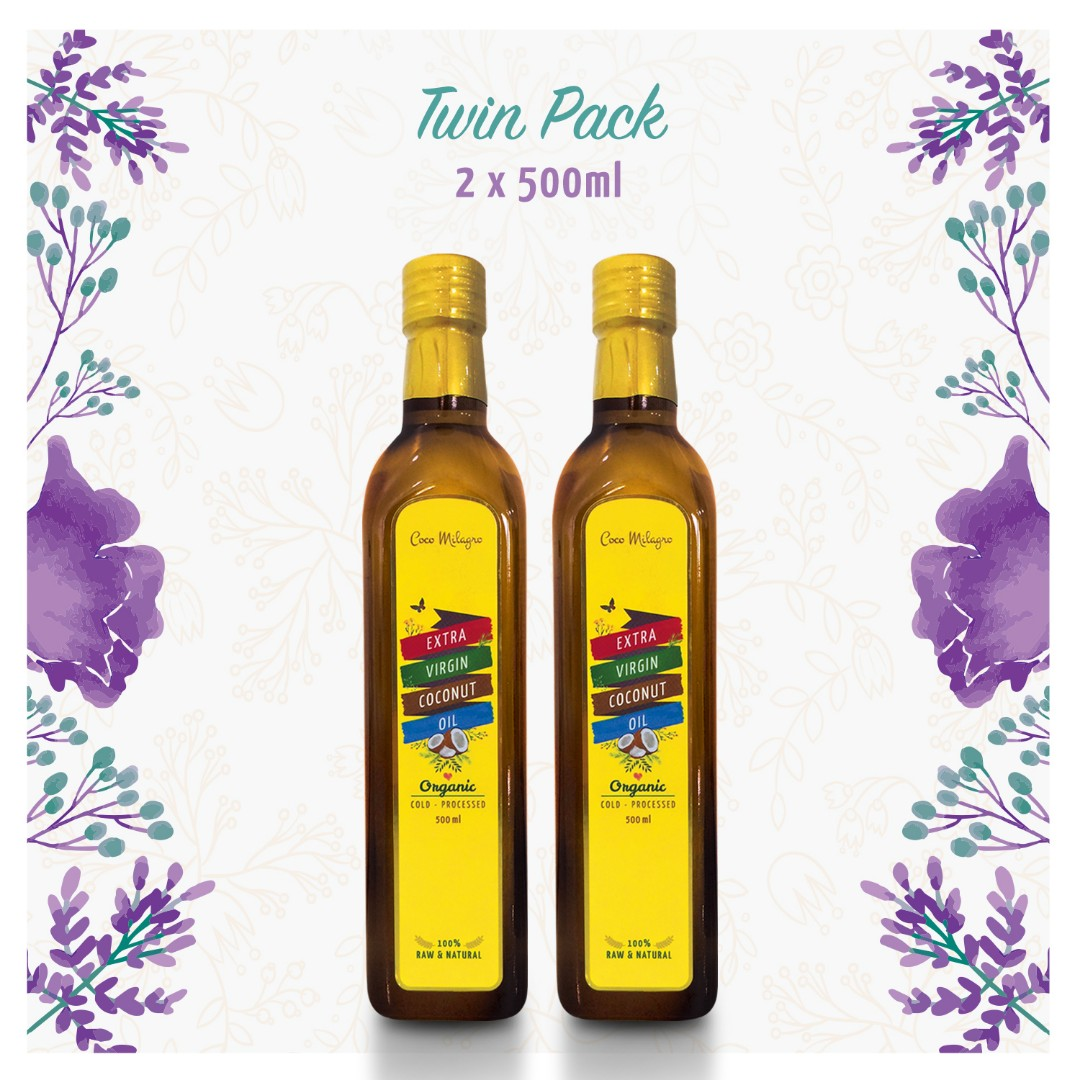 TWIN PACK - VCO COCO MILAGRO (2 BOTOL 500ML)