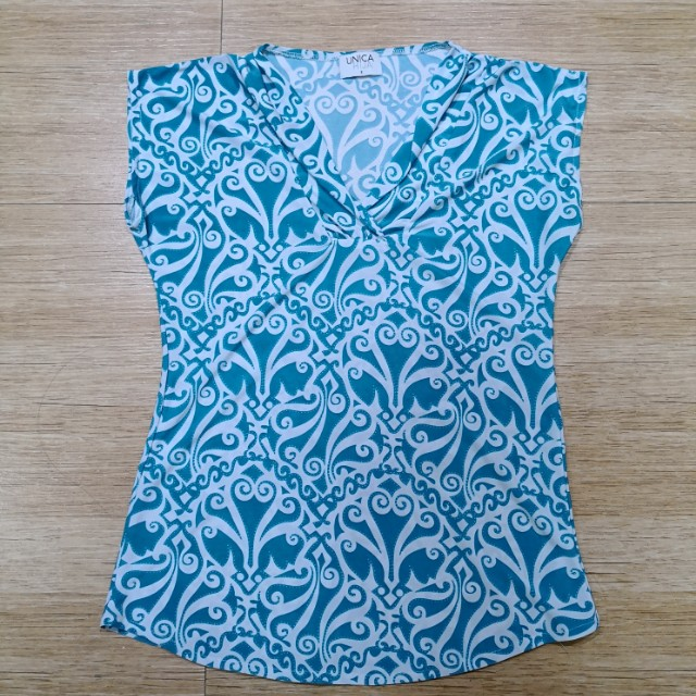 Unica hija blue blouse