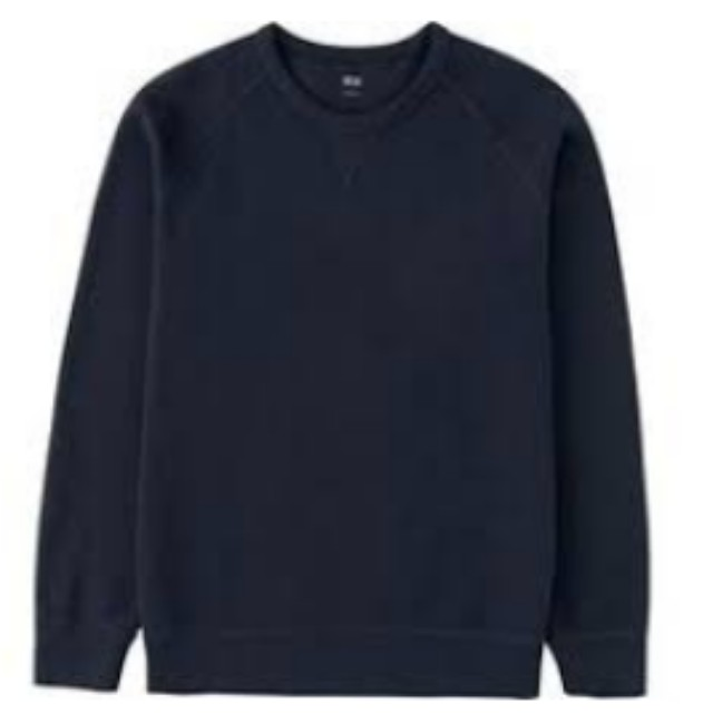 Uniqlo black cotton sweatshirt medium