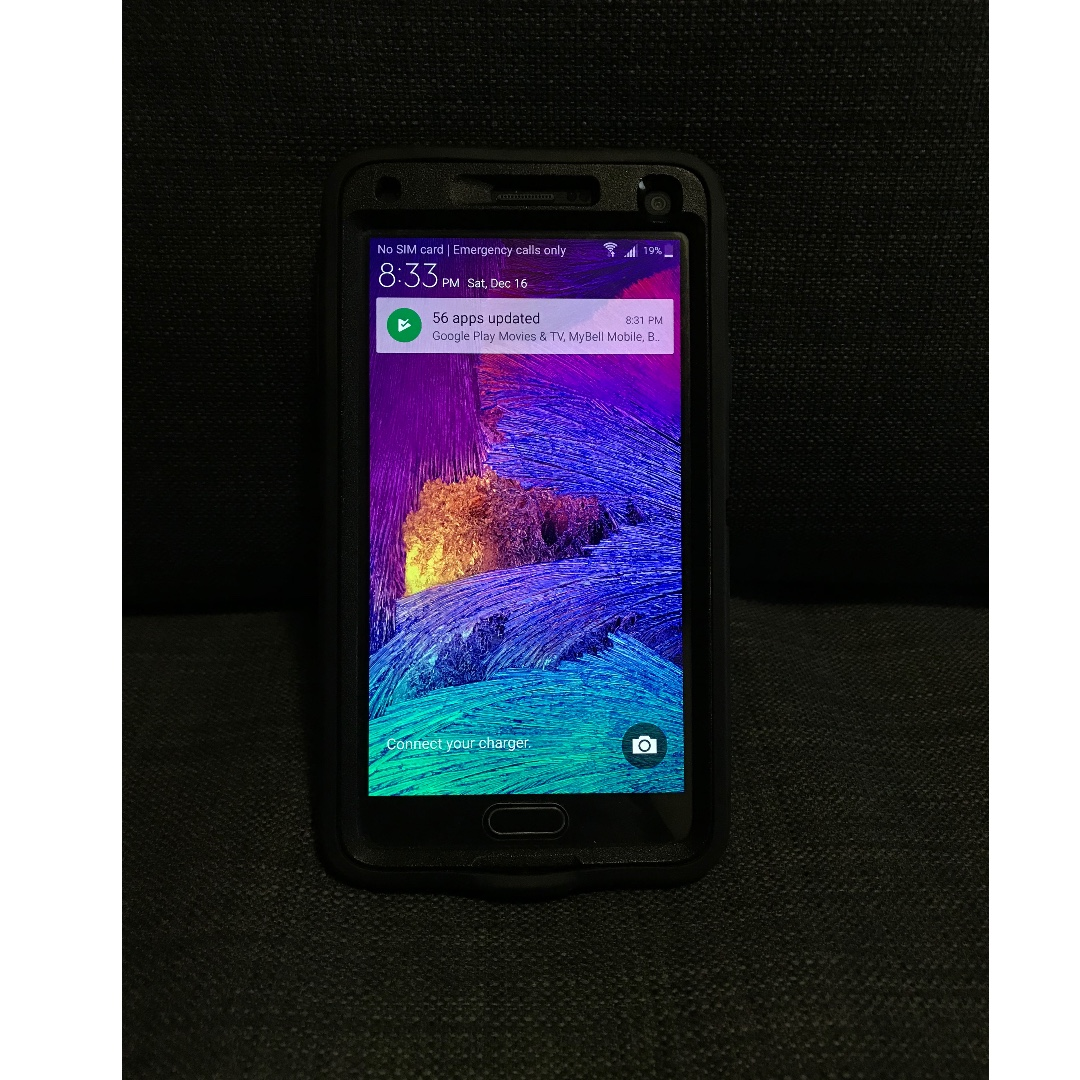 Unlocked 32GB Samsung Galaxy Note 4 with Rigid Otter Box Case and Screen Protector