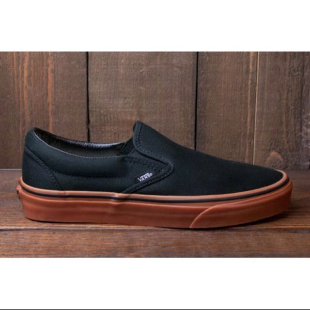 Take - black slip on vans with gum sole