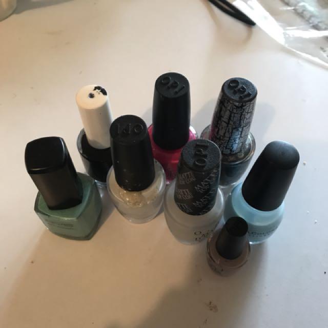 Variety of nail polish