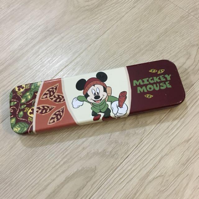 Vintage Disney Mickey Tin Pencil Case
