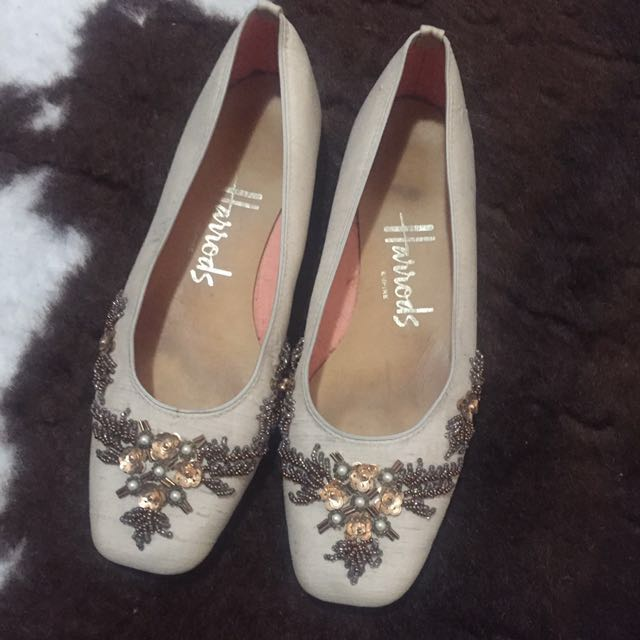 Vintage Harrods flats shoes