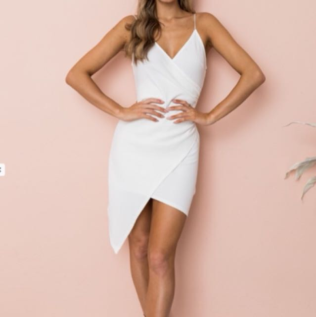 White Party Line Dress