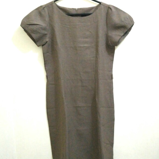 COLE - Brown dress (midi dress cokelat)