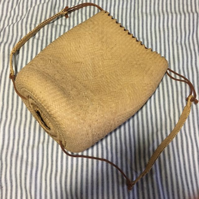 Woven Natural Raw Straw Backpack NEW - Large