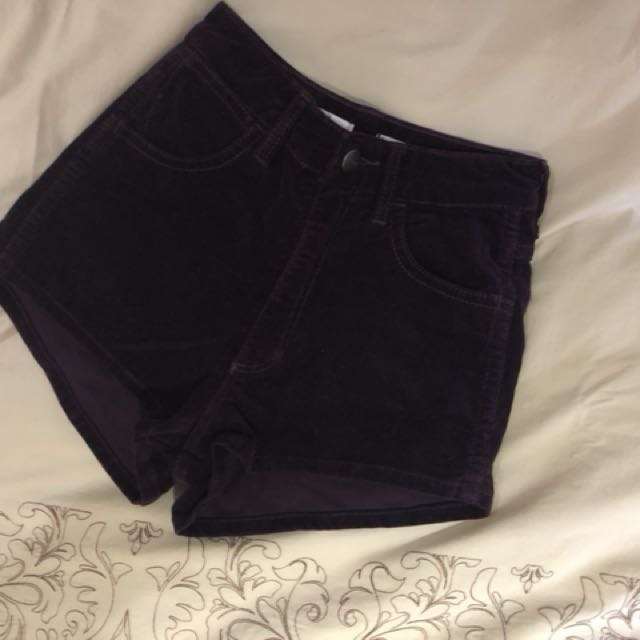 WRANGLER purple hi cheeky shorts size 7