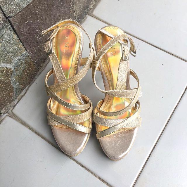Xml Gold Strap Heels