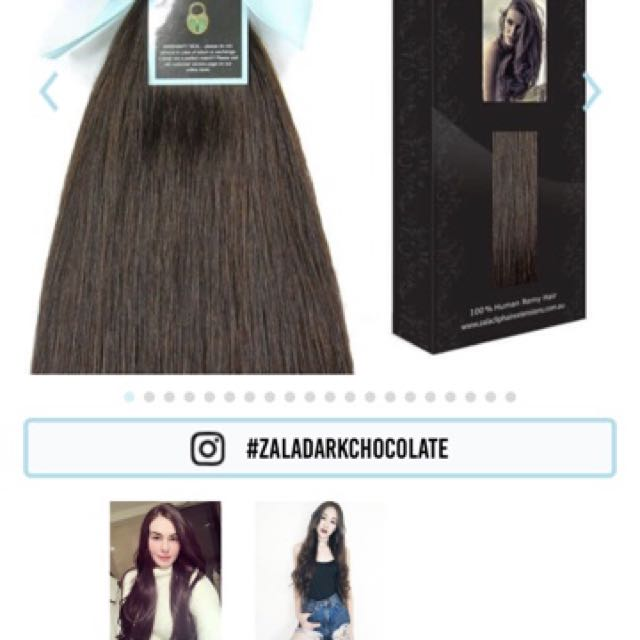 "Zala clip in human hair, 16"" 200g triple weft & double drawn"