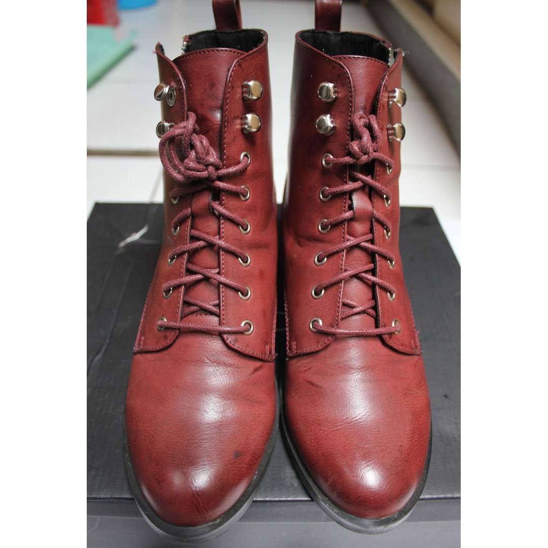 Zalora Red Boot Shoes
