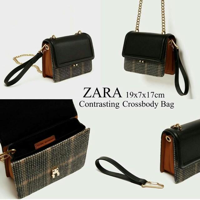 zara contrasting bag original