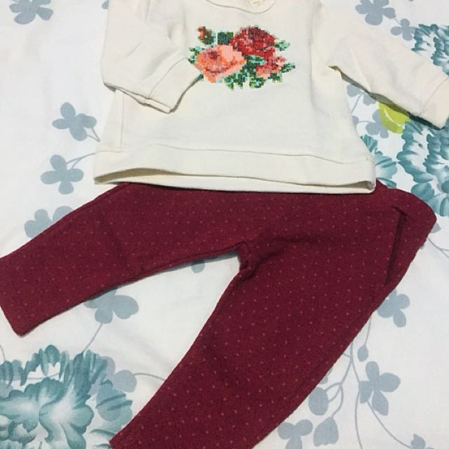 Zara Girl Top dan Pants