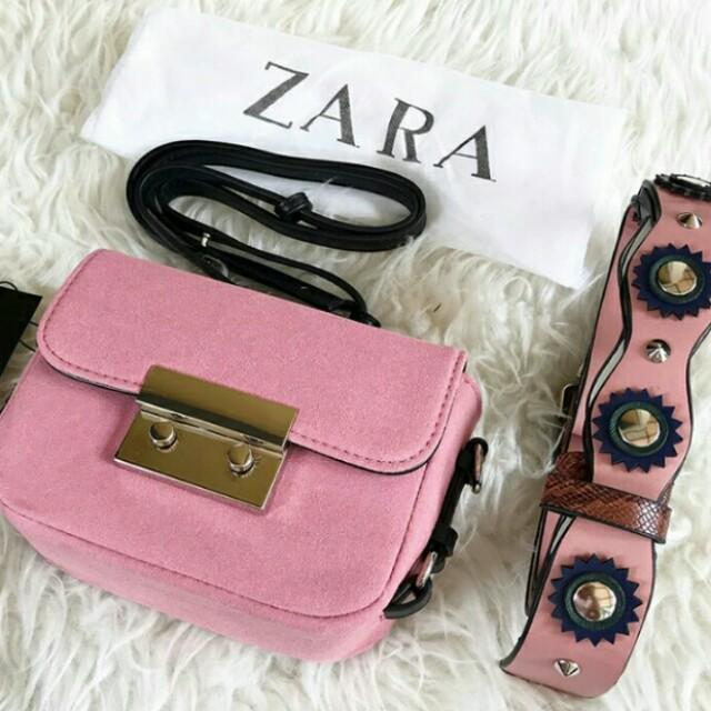 ZARA Pink Suede 100% Original