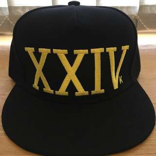 Bruno Mars Snapback Cap (Black and Gold)