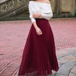 ESPADA PLEATED MAXI SKIRT