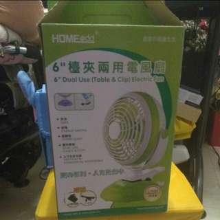 6吋枱夾兩用電風扇