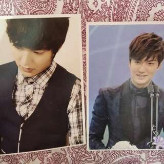 lee min ho postcard
