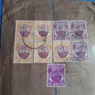 MALAYA - 1958 - MUAR , JOHORE TO india vintage Postal History Cover -  im65
