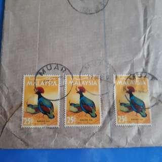 MALAYA - 1966 - MUAR , JOHORE TO india vintage Postal History Cover -  im67