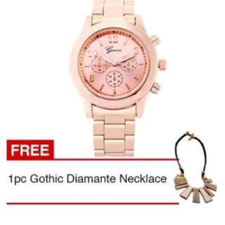 Jam tangan lucu free kalung emas