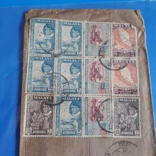MALAYA - 196X - MUAR , JOHORE TO india vintage Postal History Cover -  im67