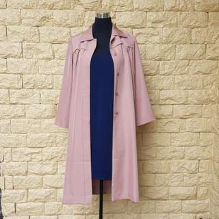 PRE-LOVED LONG TAN TRENCH COAT