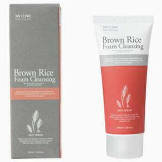 PREORDER 3W Clinic Brown Rice Foam Cleansing