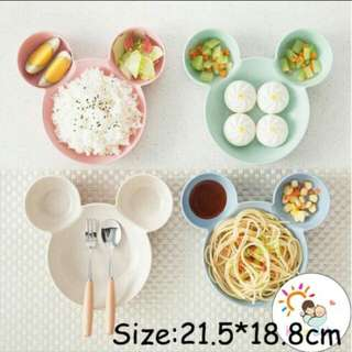 Children rice bowl mickey mouse plate